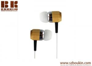 China 3.5mm stereo jack plug cute wired wood headphones earphone without mic on sale