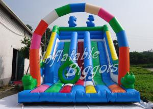 China Giant Durable Kids Inflatable Slides EN14960 CE , Backyard Inflatable Slides on sale