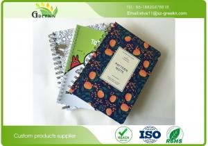 China Schools Customized 70 Gram Printed Spiral Bound Notebook With A4 / A5 Any Size on sale