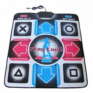 China Wired TV USB 32 Bit Electronic Dance Mat With 100 Songs + 3 Games on sale