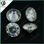 Round Synthetic White Moissanite Diamond Loose Stone