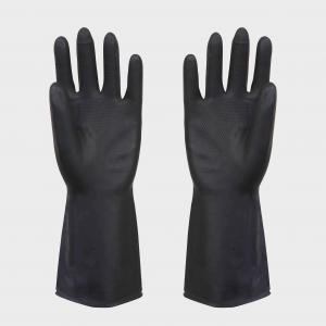 China Black Industrial Latex Gloves , Diamond Rubber safety working gloves on sale