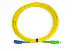 China SC-SC/ APC Simplex Singlemode Optical Fiber Patch Cord Compliant With ANSI, NTT SC Standard on sale