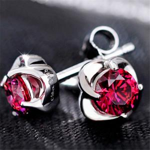 China flowers white gold earrings designs for girls 2018 new arrivals jewellery on sale
