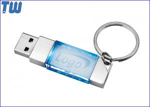China Crystal 64GB USB Flash Disk 360 Degree Logo Viewing Key Ring Attach on sale