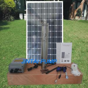 China 72 Volt SS Solar Submersible Pump , Solar Pond Pump With Battery on sale