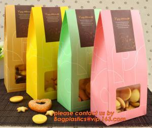 China Customize Translucent Window, Brown Greaseproof Kraft Paper Bag, Special Opp Window Bag, window bags, paper window bags, on sale