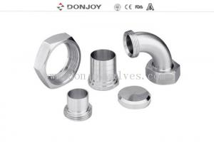 China 3A Union Series Tri Clover Clamp / Stainless Steel Clamps CNC Surface on sale