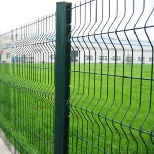 China 3D Curvy PVC Coated Welded Wire Mesh Fencing , Metal Security Fence Panels For Airport on sale
