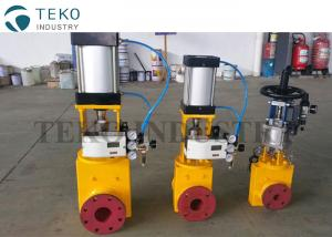 China Regulating Control Slurry Pinch Valve Pneumatic Actuated Flanged End With Positioner on sale