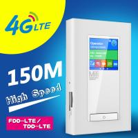 power bank lte 4g router with dual sim card slots and RJ45port
