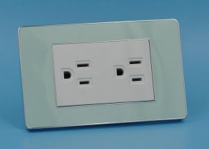 China 110 - 250V 10A / 16A Duplex Electrical Outlet , Custom Electric Plug Sockets on sale