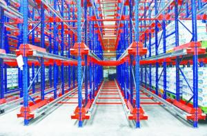 China High Accessing Rate Radio Shuttle Racking , High Load Pallet Runner System on sale