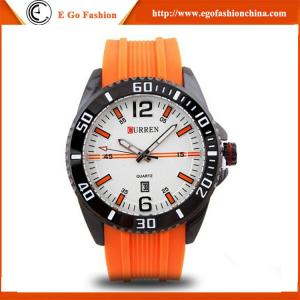 China 8178 Orange Sports Watch Rubber Band Silicone Watch Casual Watches Boys Man Curren Watches on sale