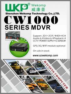 China 4CH Car DVR Complete Vehicle Video Audio Surveillance Kit on sale