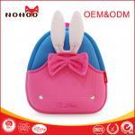 Los niños ligeros del conejo rosado viajan mochila con la manija bonita del Bowknot/del gancho agarrador