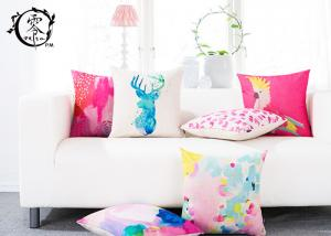 China Colorful Abstract Graffiti Paint Silk Cotton Pillow Throw Square Soft Cloth Sofa Waist on sale