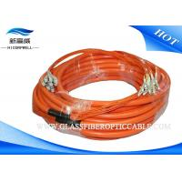 China LC / UPC OM2 Duplex 3.0mm PVC Duplex Patch Cord , 3m / 5m LC FC SC ST SM Fiber Optic Cable on sale