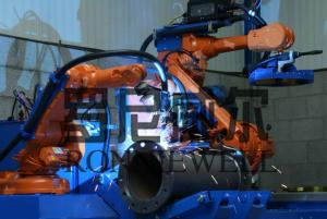 China Pipe Prefabrication Robot Welding Machine With ABB / OTC Robot Body on sale