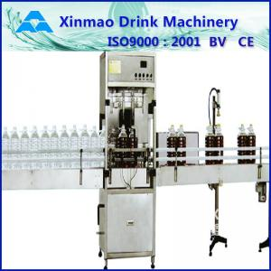 China Piston Soy Sauce Edible Oil Filling Machine For Round / Square Bottles on sale