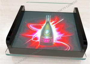 China L220*W200*H75MM, Custom battery LED plastic Acrylic Coin Tray display for Promotion on sale