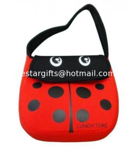China Cute Cartoon Neoprene Lunch Tote Insulated For Kids With Shoulder Strap on sale