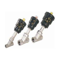China Thread type pneumatic angle seat valve for steam stainless steel seat valve on sale
