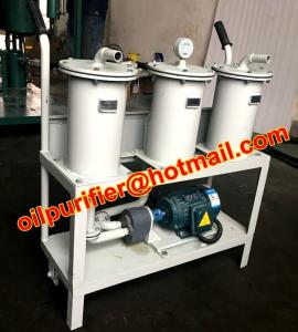 China Portable oil Filter Machine, Small Oil Purifier skid, precision filter impurity, remove particulates on sale