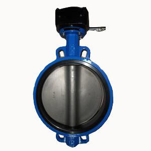 China 12IN Wafer Pattern Butterfly Valve Cast Iron Butterfly Valve Wafer CL150 on sale