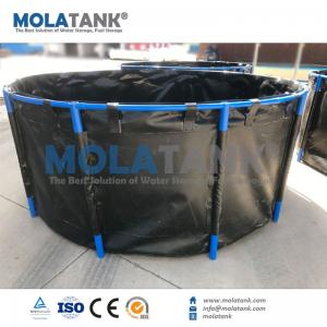 China Molatank Flexible PVC fish farming fish tank from 500L to 40,000L OEM service Hot Sale on sale
