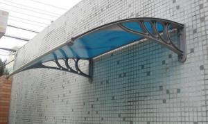 China toldo de la puerta de la hoja del policarbonato, toldo del policarbonato on sale