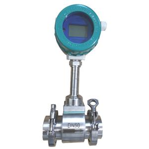 China Tri-clamp Type Vortex Flow Meter with DN25 - DN300 Pipeline Diameter on sale