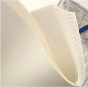 China Milk White Thick Sketch Drawing Paper For Charcoal Drawing 160gsm on sale