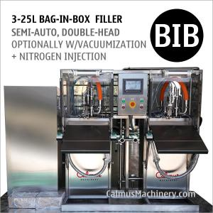 China Semi-automatic Double-Head BIB Bag Water Filler Bag in Box Filling Equipment on sale