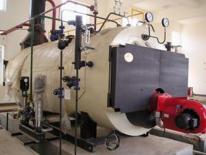 China Three Pass Condensing Oil Heating Steam Boilers , Electric Or Natural Gas Boiler on sale