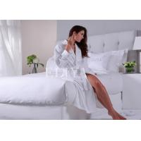China Queen Size Luxury Hotel Collection Bedding , Polycotton White Bed Linen For Home / Hospital on sale