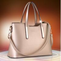 Golden Large Ladies Shoulder Bags PU Leather High Fashion Handbags For Women