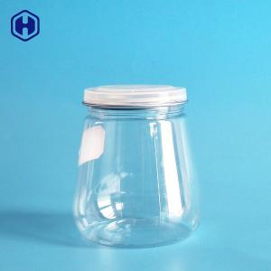 China Pagoda Style Clear Plastic Cans Dry Food Keep Plastic Biscuit Containers on sale