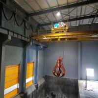 China Mini Electric Grab Bucket Crane 20 Ton For Scrap Metal Single Beam Factory on sale