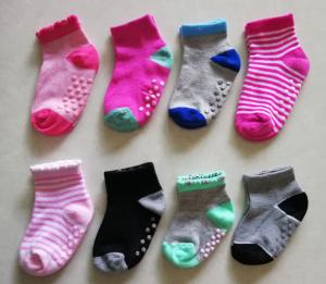 China Eco Friendly Casual Infant Baby Socks , Anti Slip Baby Ankle Socks Customized Color on sale