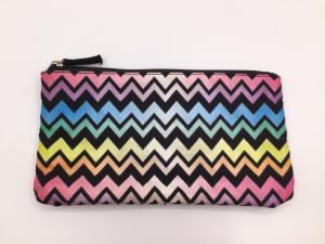 China Multi Color 6oz Canvas Women\'S Makeup Bag , Waterproof Toiletry Bag 21.5*11.5cm on sale