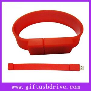 China OEM hot sell bracelet usb flash drive, silicone usb bracelet with your logo printing on sale
