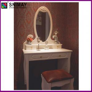 China White Vintage Makeup Dresser With Mirror , vanity dressing table on sale