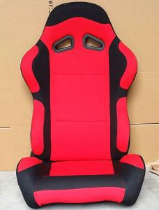 Quality Black And Red Sport Racing Seats Universal Cars Parts Foldable With Safety Belts for sale