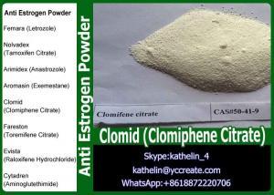 China Asaromatase Inhibitors Raw Powder Clomid (Clomiphene Citrate) For Anti Estrogen CAS No: 50-41-9 on sale