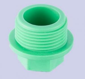 China PPR Plastic Fitting Male Threaded Pipe Plug on sale