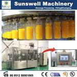 Máquina de pequeña capacidad 3 del relleno en caliente en 1 automático con Rinser rotatorio