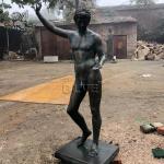 Bronze Zeus Statue Greek God Nued Man Metal Sculpture Garden Life Size