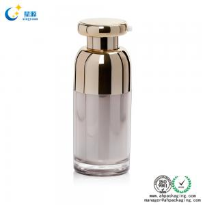 15ml 50ml PP Acrylic electroplate double wall airless bottle
