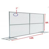 China Chain Link Temporary Security Fencing Fabric Hot Dip Galvanized 6 Feet X 12 Feet on sale